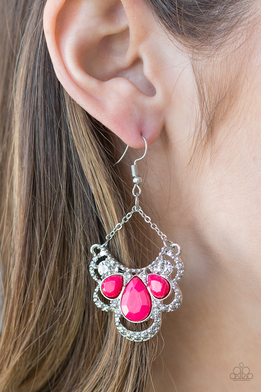 Caribbean Royalty Hot Pink Chandelier Earrings $5 my-bling.com
