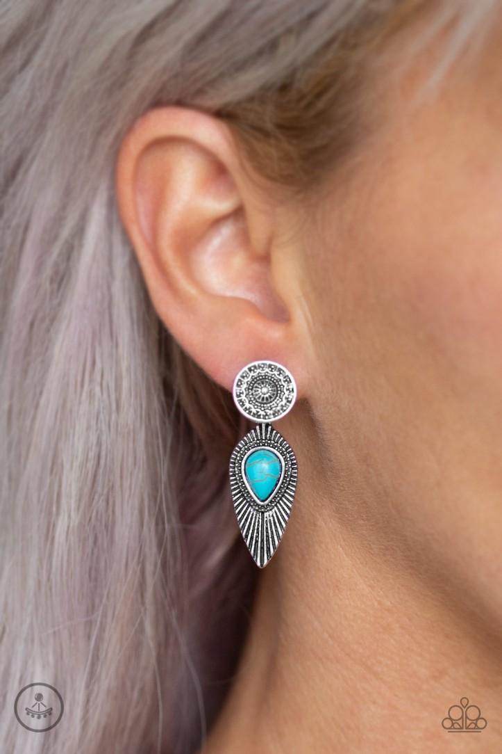 Fly Into the Sun Blue Earrings $5 my-bling.com