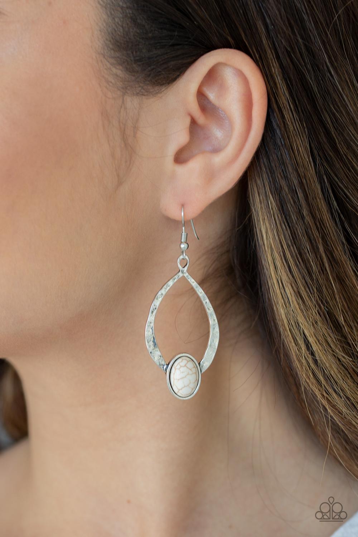 Pony Up White Earrings $5.00 my-bling.com