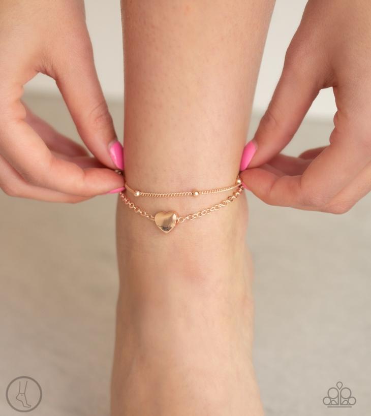 Ocean Heart Anklet - Rose Gold $5